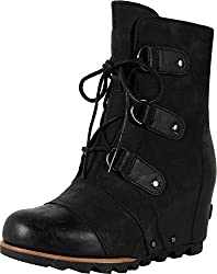 Sorel Women's Joan Of Arctic Wedge Booties, Black, 10 B(m) Us