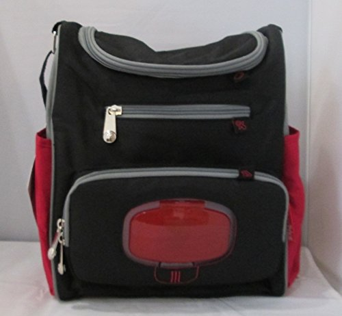 Fisher Price Baby Bottle Bag Black and Red