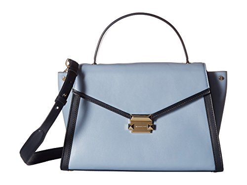 MICHAEL Michael Kors Whitney Large Satchel - Pale Blue/Admiral