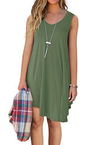 QIXING Womens Casual T Shirt Dresses