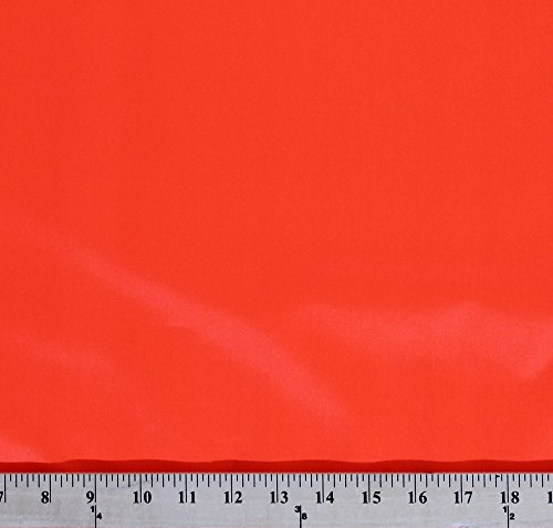 Water Repellent Flag/Sport Nylon Fabric by The Yard - Hunters Orange (2400F-4N)