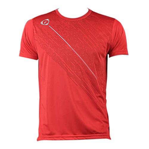 Jeansian Uomo Asciugatura Rapida Sportivo Casuale Slim Sports Fashion Tee T-Shirts Camicie LSL3209 (US S/Label M, LSL113_Red)