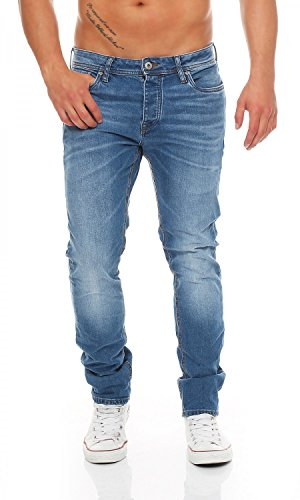JACK & JONES - TIM ORIGINAL - Blue Denim - Slim Fit - Men / Herren Jeans Hose , Hosengröße:W32/L32