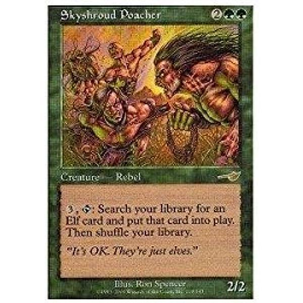 English Heavy Played 1 x MTG Skyshroud Poacher Nemesis