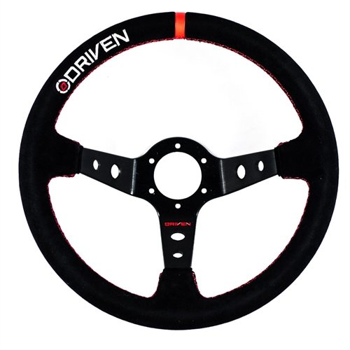 (Driven Motorsport DR890135S Steering Wheel 13.5inAluminum Dished Suede)
