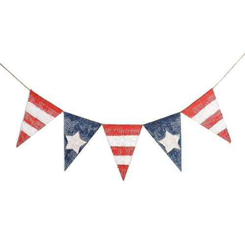 4th of July Banner Independence Day American Flag