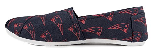 Forever On Womens Football Summer Shoes Collectibles England Canvas Pick New Slip 2015 NFL Ladies Team Patriots rwqr8A
