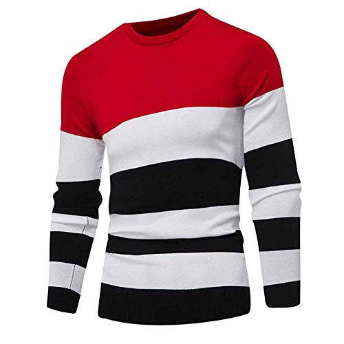 HYIRI Pullover Slim Jumper,Men's Autumn Winter Sweater Knitwear