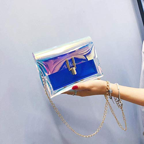 oro a catena trasparente Blu cristalli tracolla per rosa tasche impermeabile con Borsa tracolla in a con Colore cellulare Blu a Dimensione Borse dXwxSCqw