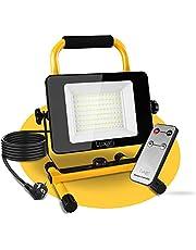 Luxari LED Bouwspots [60W & 5400LM] - Dimbare bouwlamp IP65 waterdicht - 5m kabel & Afstandsbediening - Werklamp LED Spotlight - Energie Klasse A+
