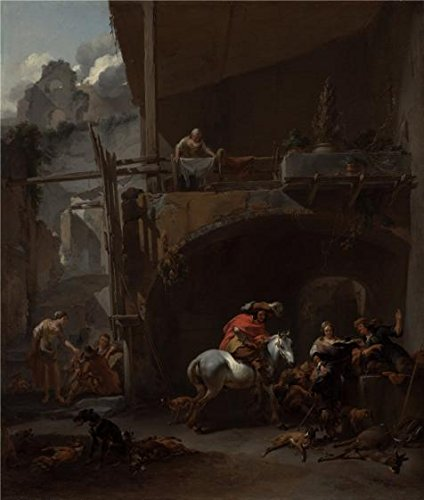 Rent Easter Bunny Costumes ('The Return from the Hunt, 1660s By Nicolaes Berchem' oil painting, 24x28 inch / 61x72 cm ,printed on high quality polyster Canvas ,this Vivid Art Decorative Prints on Canvas is perfectly suitalbe for Home Theater decor and Home decoration and Gifts)