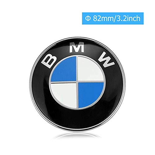 (BMW Emblem Logo Replacement for Hood/Trunk 82mm for ALL Models BMW E30 E36 E46 E34 E39 E60 E65 E38 X3 X5 X6 3 4 5 6 7 8)