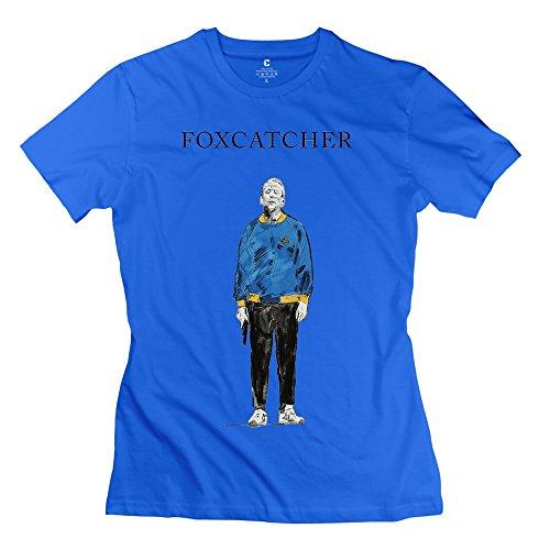 TGRJ Women's T Shirt - Vintage Foxcatcher Man Gun RoyalBlue Size S