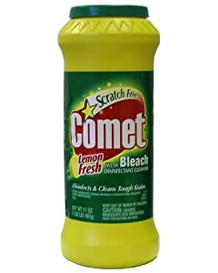 Comet with Bleach Cleanser Lemon Fresh, 17oz (Packaging May Vary)