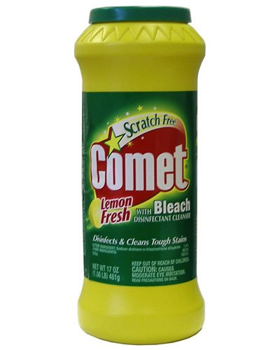 Comet With Bleach Cleanser Lemon Fresh 17oz Packaging May Vary