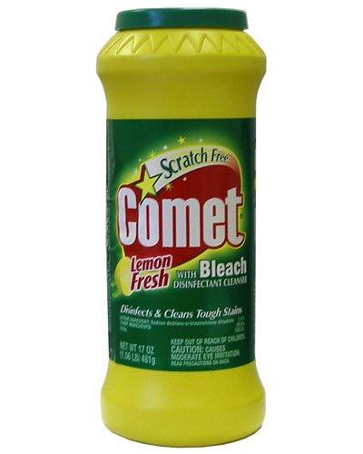 Comet with Bleach Cleanser Lemon Fresh, 17oz (Packaging May Vary)