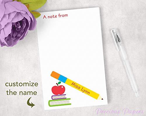 Personalized Teacher Notepads - Personalized Teacher Notepad Great Teacher Gift