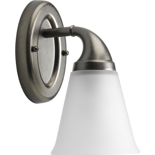 Progress Lighting P2758-03 1-Light Bath Which Mounts Up Or Down, Aged Pewter