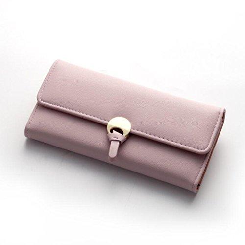 Pink purple 2 cm Cuir soirée Sac PU Embrayage Femmes Mode Taille Buckle 5 de Lady 9 Cross pour 7 Simple Longue 18 Portefeuille Portefeuille 1 gAnHSqAw