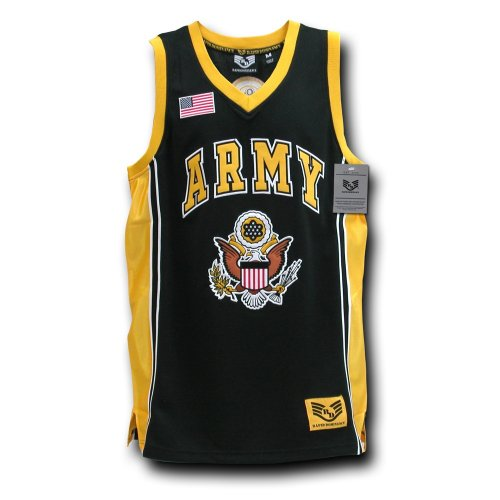 Rapiddominance Army Basketball Jersey, Black, ()