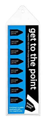 Get to the Point - Passage Point Magnetic Arrow bookmarks - BLACK-Set of -