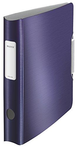 LEITZ 11090069 - Archivador de palanca polyfoam 180º lomo curvado cierre con goma Active Style DIN A4 50 mm. color azul titán