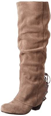 Naughty Monkey Women's Fall Fever Boot,Taupe,10 M US