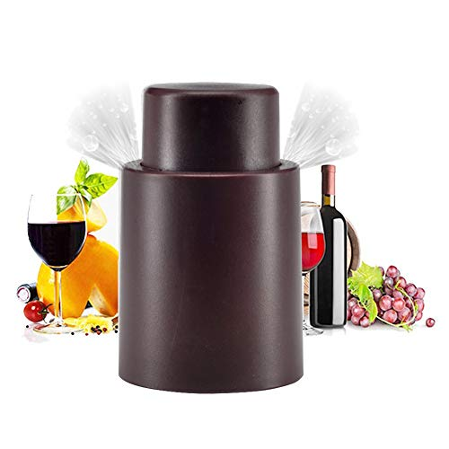 (Vacuum Wine Stoppers,Wine Bottles Sealers Preservers,Vacuum Beverage Bottle Saver with Inner Rubber,Remove Air and Vacuum Seal Opened Wine Bottle for 7-14 Days)