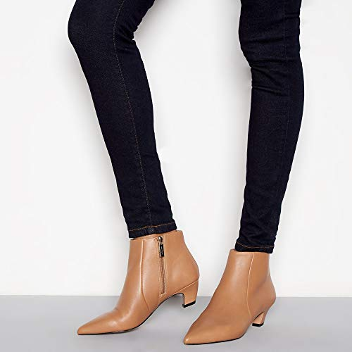 J Heel by Jasper Leather 'Jitty' Camel Conran Kitten Womens Boots SpSqwA