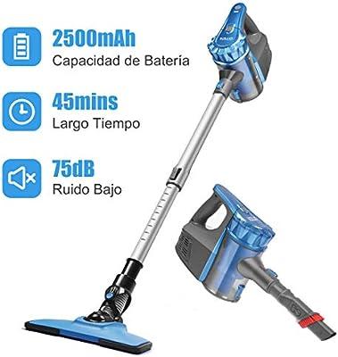 Aspiradora Escoba sin Cable, Aspirador de Mano Ultraligero y ...