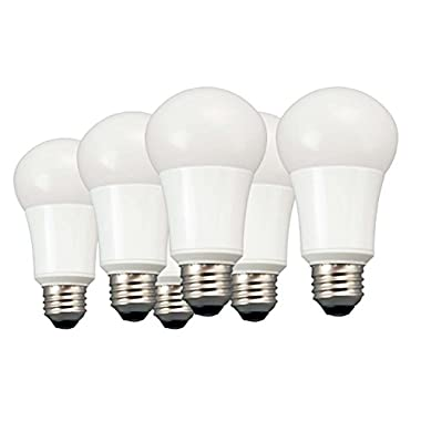 TCP 60 Watt Equivalent 6-pack, LED A19 Light Bulbs, Non-Dimmable, Daylight LA1050KND6
