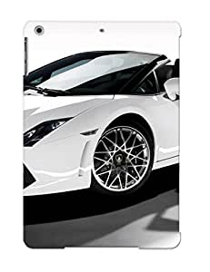 Appearance Snap-on Case Designed For Ipad Air- White Lamborghini(best Gifts For Lovers)