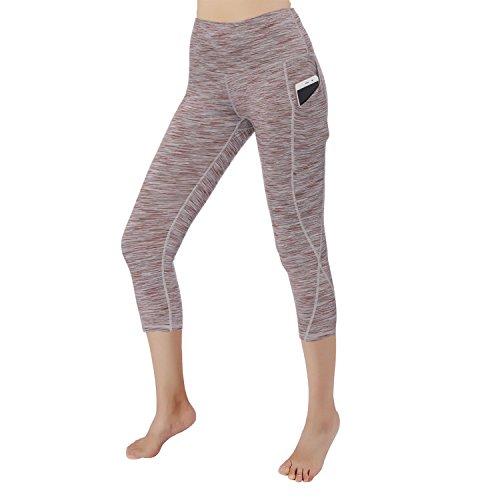 RURING Women's High Waist Yoga Pants Tummy Control 4 Way Stretch Running Pants Workout Leggings