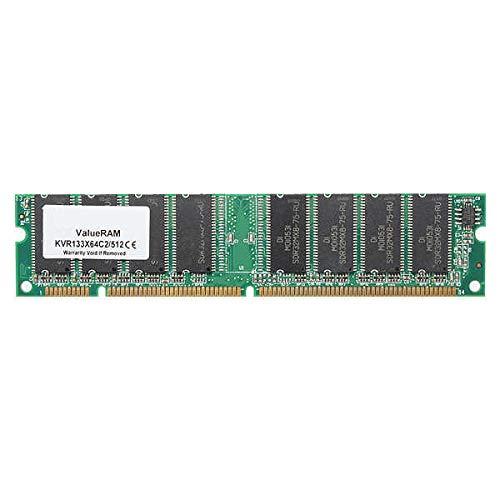 512MB PC133 SDRAM DIMM NON-ECC NON-REG 168 Pin Desktop Computer Memory Ram - Computer Components Memory - 1 x 512MB PC133 SDRAM Desktop Memory ()