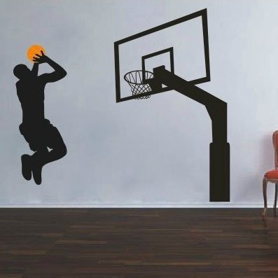 Pegatinas Pared Baloncesto Deportes, Baloncesto Adhesivo Pared ...