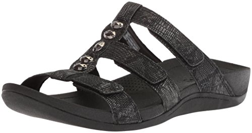 CLARKS Women's Pical Cusick Platform, Black Synthetic Snake Print, 7.5 Medium US