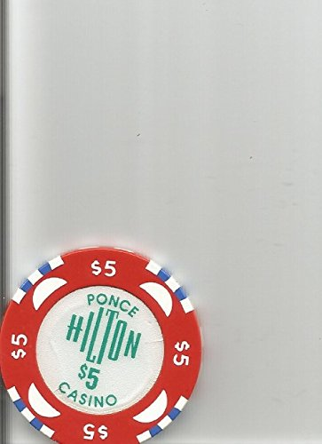 $5 ponce hilton red san juan puerto rico casino chip rare (Puerto Rico Casino)