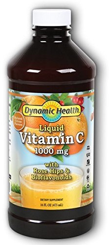 Dynamic Health Laboratories Citrus Vitamin C 1000 mg Liquid with Rose Hips, 16 Fluid Ounce