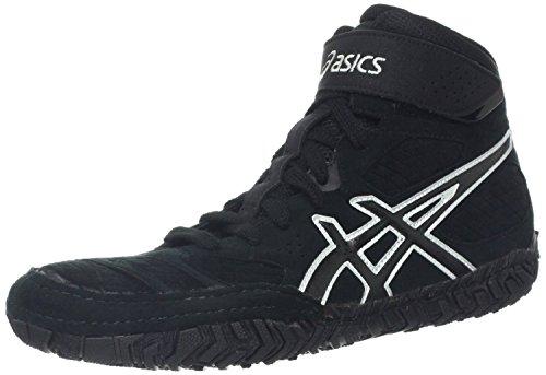 ASICS Ringer Chaussures Wrestling Asics AGRESSEUR 2–j300y 9099–Noir/Onyx/Argenté