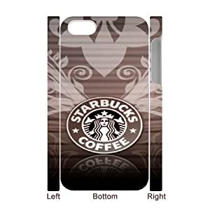 iphone4 4S 3D Cell Phone Case White Starbucks Plastic Durable Cover Cases derf6999357