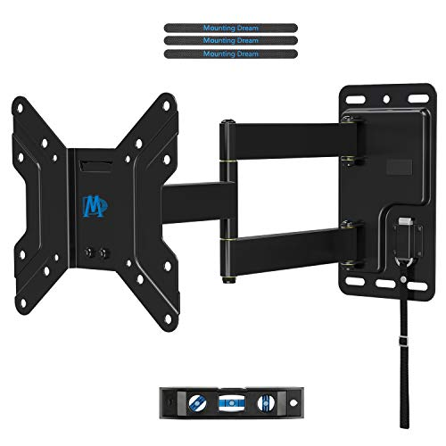 (Mounting Dream Lockable RV TV Mount for 17-39 Inch Flat Screen TV, RV Mount on Camper Motor Home Marine Boat Truck, Full Motion Unique One Step Lock Design RV TV Wall Mount, 200mm VESA 44 LBS MD2210)