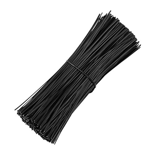 - Yardwe 500PCS 6 Inch Plastic Coated Twist Tie for Plants Grape Vine Trellis Wire Ties White Twist Ties for Bread Candy Bags Cable Tie Organizer (White)