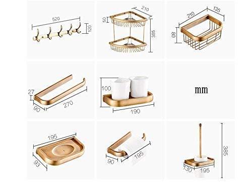 Paper Holder Bathroom Supplies Toilet-Bathroom Luxury Wall Toilet Towel Toilet Paper Holder & Toothbrush Holder soap Dish Bathroom Towel Clothes Hook, V Paper Container (Color : Z)