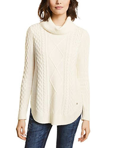 10108 Curved One Street Para Mujer off Weiß Bottom Cable White Pullover With Jersey 7COCBwqx