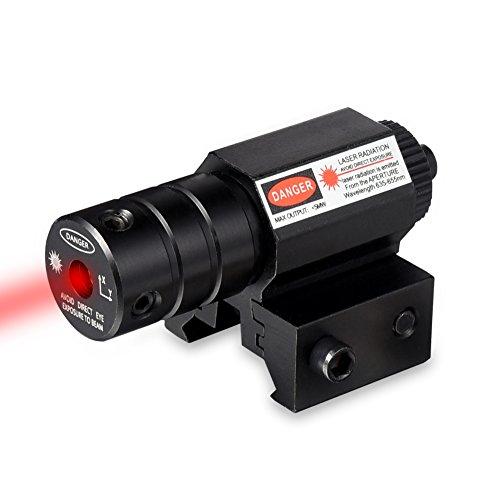 RUNACC Mini Red Dot Gun Sight Scope Laser Gun sight Laser Beam Dot Scope with Rail Mount Pistol Rifle for Outdoor Hunting