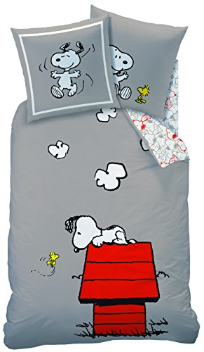 CTI 042748 Snoopy Classic Red Double Duvet Cover 140 x 200 cm