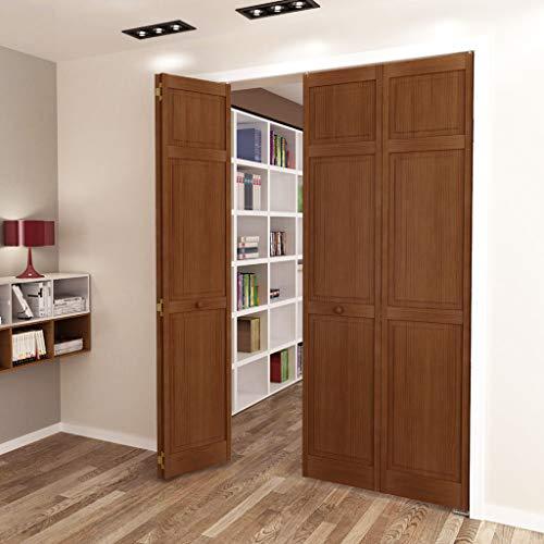 Kimberly Bay Traditional Six Panel Espresso Solid Core Wood Bi-fold Door (80x24) (Wood Bifold Doors)