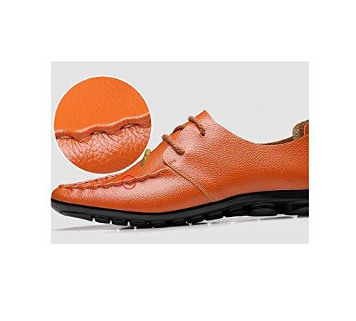 Scarpe Rete Fondo A Uomo Oxford Casual Traspiranti Pigro Bean Morbido Scarpe Rotonda da Business Scarpe Red Punta da qUU7v8Z