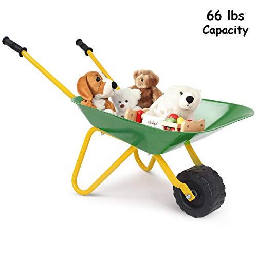 "8"" Outdoor Garden Backyard Play Toy Kids Metal Wheelbarrow - Green from Unknown"