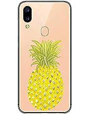 Oihxse Transparente Silicona Case Compatible con Xiaomi Redmi Note 3 Funda Suave TPU Protección Carcasa Moda Dibujos Animados Divertida Diseño Ultra-Delgado Cubierta-Piña